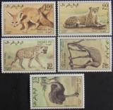 SAHARA OCC 1990 - FAUNA AFRICANA, 5 VALORI , NEOBLITERATE - SAH 015