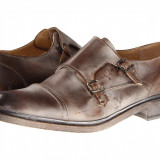 Pantofi Frye James Double Monk   100% originali, import SUA, 10 zile lucratoare - Pantof barbat Frye, Piele naturala