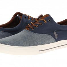Pantofi Polo Ralph Lauren Vaughn Saddle | 100% originali, import SUA, 10 zile lucratoare - Tenisi barbati Ralph Lauren, Piele intoarsa
