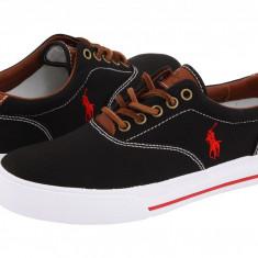 Pantofi Polo Ralph Lauren Vaughn Canvas/Leather | 100% originali, import SUA, 10 zile lucratoare - Pantofi barbat Ralph Lauren, Casual