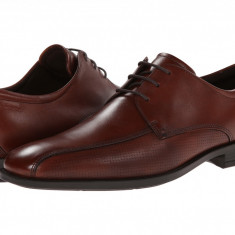 Pantofi ECCO Edinburgh Perforated Tie | 100% originali, import SUA, 10 zile lucratoare, Piele intoarsa