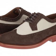Pantofi Polo Ralph Lauren Torrington Wingtip | 100% originali, import SUA, 10 zile lucratoare - Pantofi barbat Ralph Lauren, Piele intoarsa