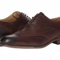 Pantofi Frye Harvey Wingtip | 100% originali, import SUA, 10 zile lucratoare - Pantofi barbat Frye, Piele intoarsa