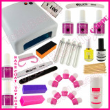 Kit Oja Permanenta Profesionala #01 Gelpolish Germania cu Lampa UV + CADOU