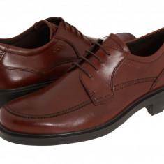 Pantofi ECCO Boston Apron Tie | 100% originali, import SUA, 10 zile lucratoare - Pantofi barbat Ecco, Piele intoarsa, Casual