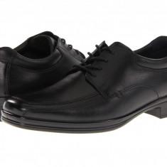 Pantofi Hush Puppies Quatro Oxford BK | 100% originali, import SUA, 10 zile lucratoare - Pantofi barbat Hush Puppies, Piele naturala