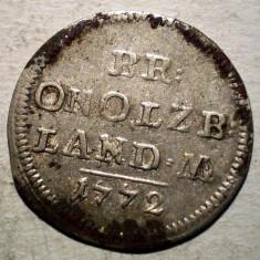 E.038 GERMANIA BRANDENBURG ANSBACH ALEXANDER 2 1/2 KREUZER 1772 BILLON 1g - Moneda Medievala, Europa