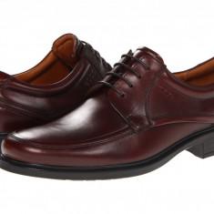 Pantofi ECCO Dublin Apron Toe Tie | 100% originali, import SUA, 10 zile lucratoare - Pantofi barbat Ecco, Piele intoarsa