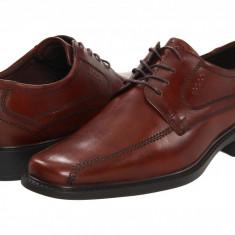 Pantofi ECCO New Jersey Tie | 100% originali, import SUA, 10 zile lucratoare - Pantofi barbat Ecco, Piele intoarsa