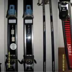 Ski-uri ROSSIGNOL FIRST (185 cm) + set 2 beţe (140 cm) - Set ski