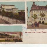 Ok-1494- Romania, Turnu Severin, carte post. multipla circulata 1928: 3 imagini - Carte Postala Oltenia dupa 1918, Drobeta-Turnu Severin, Fotografie