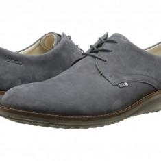 Pantofi ECCO Contoured Plain Toe Tie | 100% originali, import SUA, 10 zile lucratoare - Pantofi barbat Ecco, Piele intoarsa