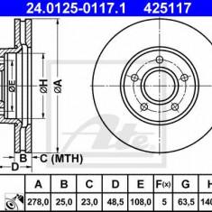 Disc frana fata Ford Focus 2- 278 mm ATE - Discuri frana ATE, FOCUS II (DA_) - [2004 - 2011]