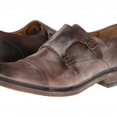 Pantofi Frye James Double Monk | 100% originali, import SUA, 10 zile lucratoare - Pantofi barbat Frye, Piele naturala