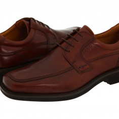 Pantofi ECCO Seattle Apron Toe Tie | 100% originali, import SUA, 10 zile lucratoare - Pantofi barbat Ecco, Piele intoarsa