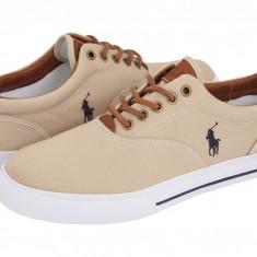 Pantofi Polo Ralph Lauren Vaughn Canvas/Leather | 100% originali, import SUA, 10 zile lucratoare - Tenisi barbati