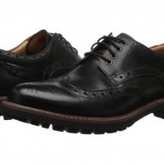 Pantofi Clarks Montacute Wing | 100% originali, import SUA, 10 zile lucratoare - Pantofi barbat Clarks, Piele intoarsa