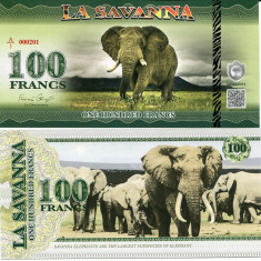 LA SAVANNA- 100 FRANCS 2015- UNC!! - bancnota africa