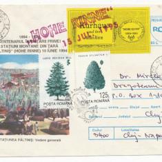 RFL 1995 ROMANIA vigneta rara mare Hohe Rinne Paltinis circulat pe plic FDC - Timbre Romania, Transporturi, Stampilat