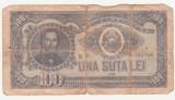 (31) BANCNOTA ROMANIA - 100 LEI 1952, REP. POPULARA ROMANA