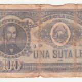 (31) BANCNOTA ROMANIA - 100 LEI 1952, REP. POPULARA ROMANA - Bancnota romaneasca