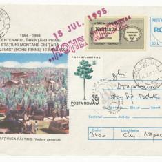RFL 1995 ROMANIA vigneta rara mica Hohe Rinne Paltinis circulata pe plic FDC - Timbre Romania, Transporturi, Stampilat