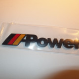 Logo emblema Power BMW negru