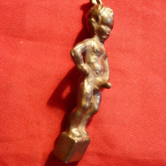 Statueta mica din bronz - Copil, h= 5 cm - Arta din Metal