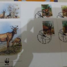 WWF FDC Mozambic 1991 serie Antilope