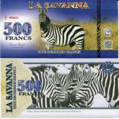 LA SAVANNA- 500 FRANCS 2015- UNC!! - bancnota africa