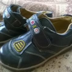 Pantofi copii marimea 28, Culoare: Negru, Baieti, Piele sintetica