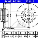 Disc frana Ate POWER DISC BMW Seria 3 e46