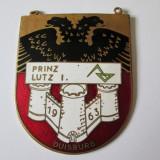 PLACHETA MASONICA DIN ALAMA EMAILATA PRINZ LUTZ I.DUISBURG 1963