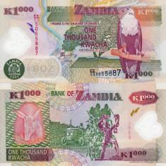 ZAMBIA 1.000 kwacha 2005 polymer UNC!!!