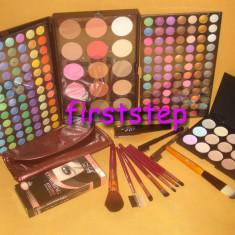 Trusa machiaj Mac Cosmetics MAC 183 culori 7 pensule fond de ten corector concealer eyeliner