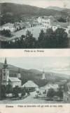 Ok-1537- Romania, Zlatna carte post. circulata 1925: Doua imagini, piata, animat