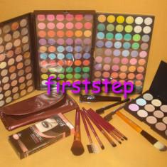 Trusa machiaj Mac Cosmetics MAC 180 culori 7 pensule fond de ten corector concealer eyeliner
