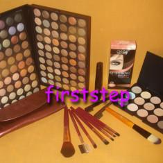 Trusa machiaj MAC 120 culori 7 pensule fond de ten corector concealer eyeliner - Trusa make up