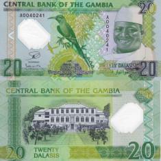 GAMBIA 20 dalasis 2014/2015 polymer UNC!!! - bancnota africa