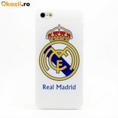 Husa Real Madrid pentru iPhone 6 + plus, folie ecran inclusa