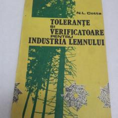 TOLERANŢE ŞI VERIFICATOARE PENTRU INDUSTRIA LEMNULUI, N. L. COTTA