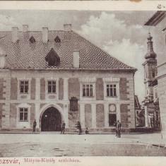 Romania, Kolozsvar, Cluj carte postala necirculata aprox.1900: Casa Matei Corvin - Carte Postala Transilvania pana la 1904, Fotografie, Cluj Napoca
