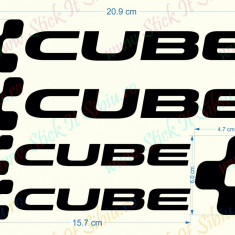 Set Cube  - Model 2_Sticker Bicicleta_Tuning _ Cod: SET-023