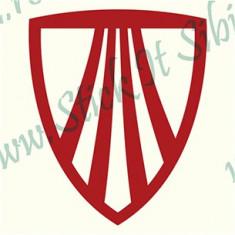 Logo Trek_Sticker Bicicleta_Tuning _ Cod: BDEC-037-Dimensiuni: 10 cm. x 8.2 cm.