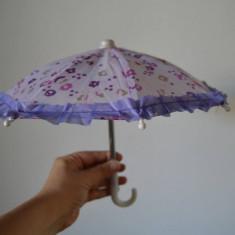 Umbreluta /umbrela pentru papusi, 30 cm diametru, mov,