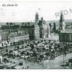 3035 - ORADEA, Market - old postcard - used - 1918 - Carte Postala Crisana 1904-1918, Circulata, Printata