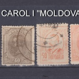 "1918-1919 - CAROL I - ""MOLDOVA"" - SERIE COMPLETA STAMPILATA, Regi, Stampilat"