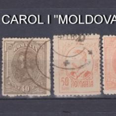 """1918-1919 - CAROL I - """"MOLDOVA"""" - SERIE COMPLETA STAMPILATA"""
