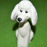 Figurina jucarie catel caine pudel canish, plastic, 10 cm, McDonalds 2008 - Figurina Animale