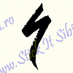 Logo Specialized_Sticker Bicicleta Cod: BDEC-043-Dimensiuni: 10 cm. x 4.4 cm.
